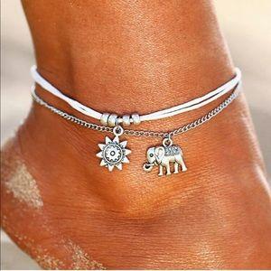 Jewelry - Retro Elephant Sun Pendant Foot Jewelry